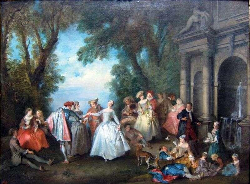 Taniec przy fontannie   Nicola Lancre