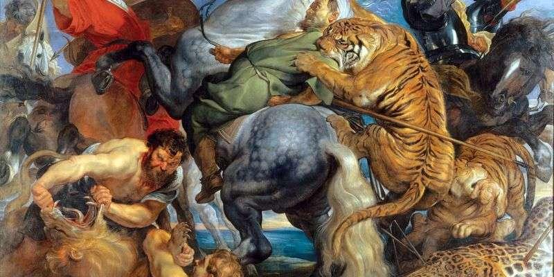 Polowanie na tygrysy i lwy   Peter Rubens