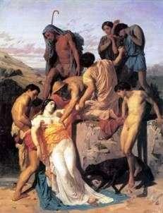 Zenobia znaleziona przez pasterzy nad brzegiem araksa   Adolph Bouguero
