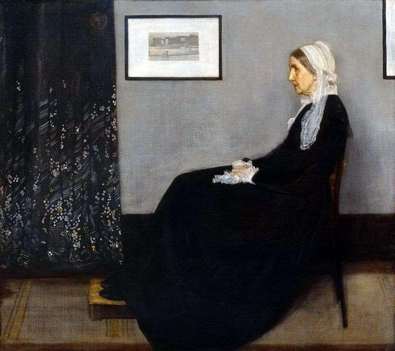 Układ w kolorze szarym i czarnym numer 1: portret matki   James Whistler