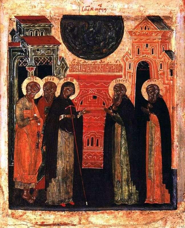 Wygląd Matki Boskiej Sergiusza z Radoneża