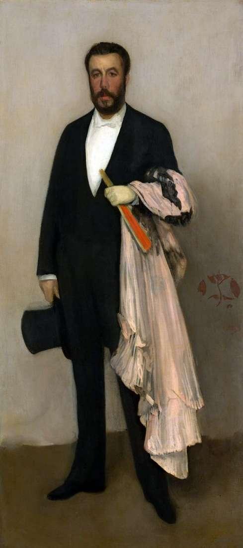 Portret Theodorea Durea   Jamesa Whistlera