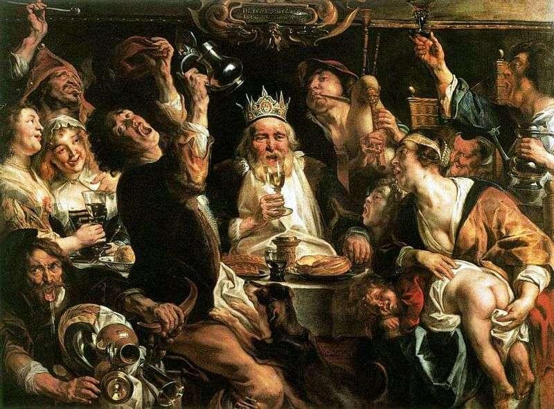 The King Drinks   Jacob Jordaens