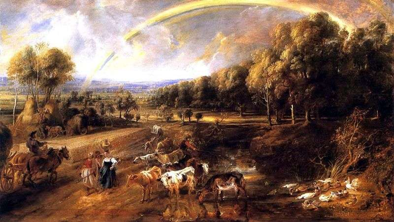 Rainbow Landscape   Peter Rubens