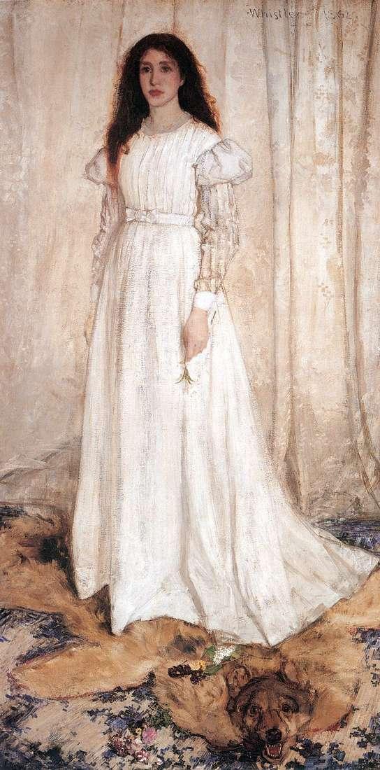 Symfonia w bieli nr 1: dziewczyna w bieli   James Whistler