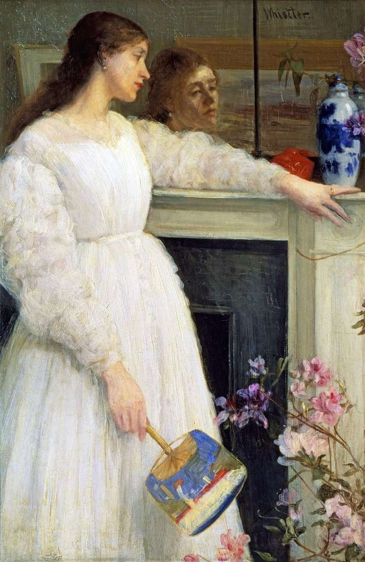 Symfonia w kolorze białym nr 2: dziewczyna w bieli   James Whistler