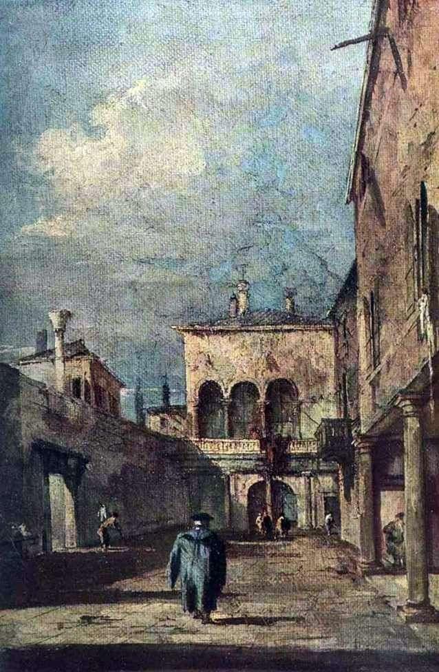 Dziedziniec wenecki   Francesco Guardi