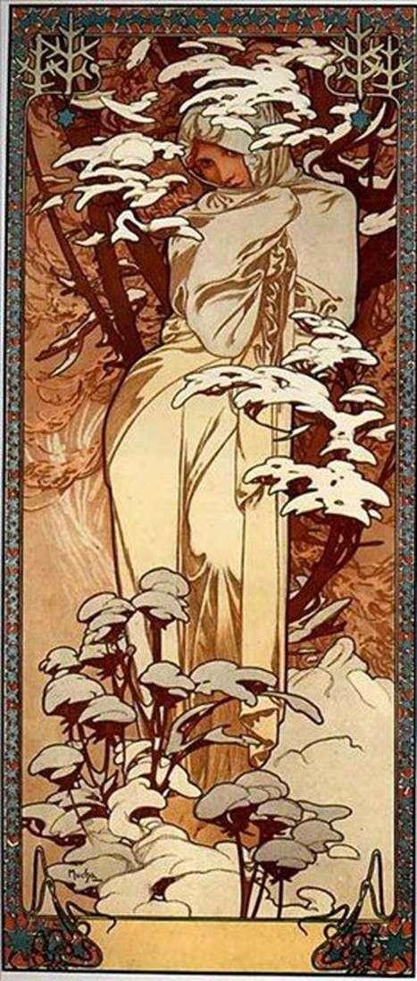 Zima   Alphonse Mucha