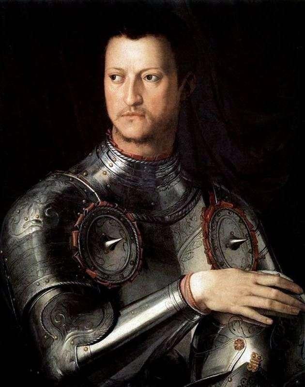 Portret Cosimo Pierwsi Medici w Lats   Agnolo Bronzino