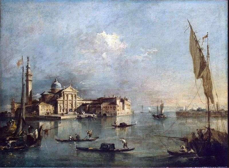 Widok na wyspę San Giorgio i Giudecca   Francesco Guardi