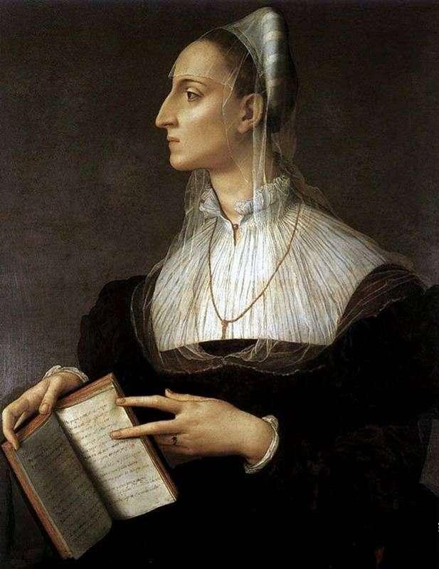 Portret Laury Battiferi   Agnolo Bronzino