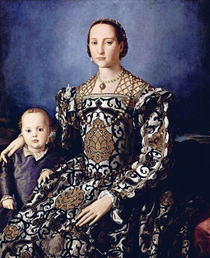 Portret Eleonory z Toledo z synem Giovanni Medici   Agnolo Bronzino