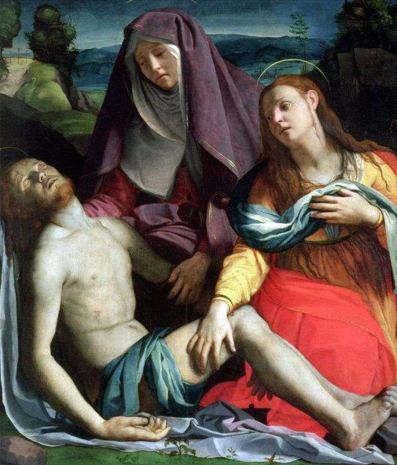 Martwy Chrystus z Dziewicą i Marią Magdaleną (Pieta)   Agnolo Bronzino
