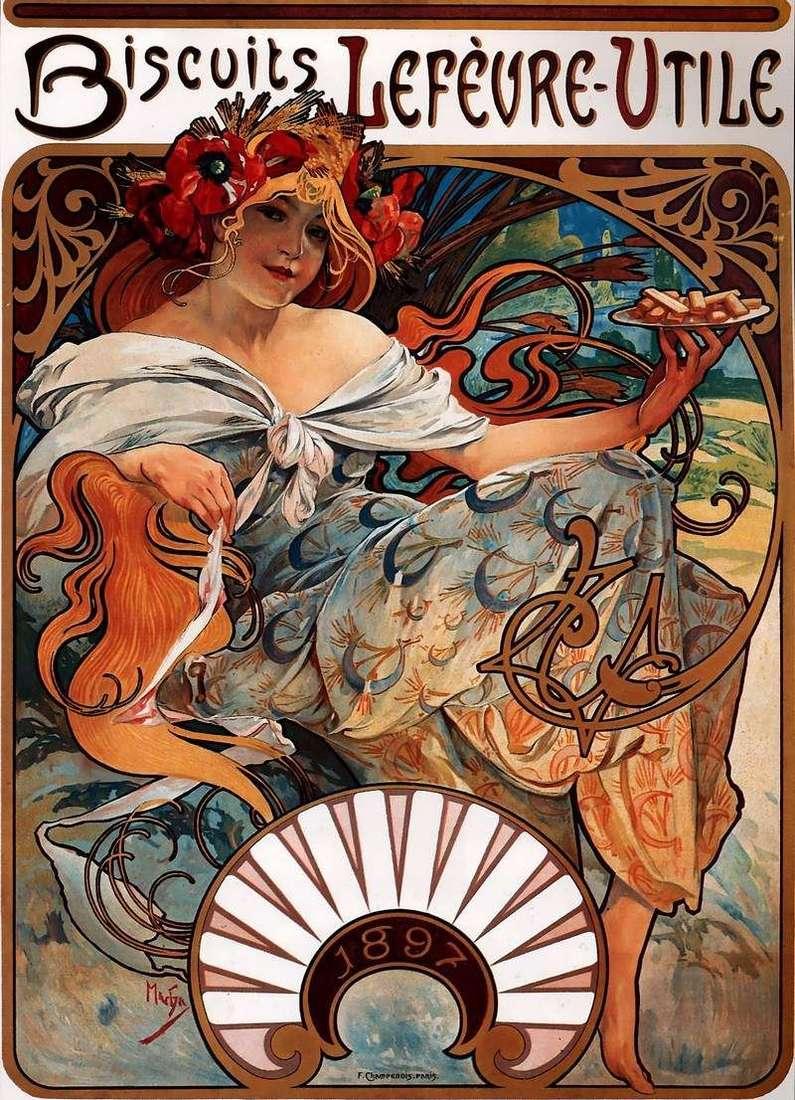 Plakat reklamowy   Alfons Mucha