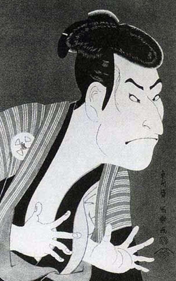 Aktor Otani Oniji II jako Sługa Edohei   Tusyushai Syaraku