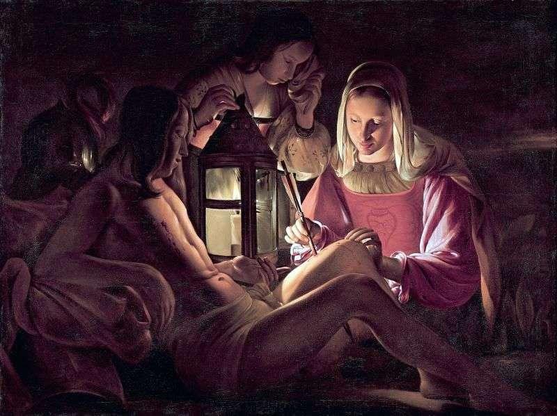 St. Sebastien i Święte żony   Georges de La Tour