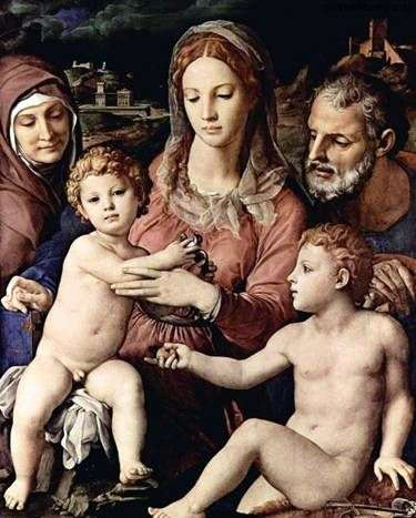 Święta rodzina z św. Anną i Janem Chrzcicielem   Agnolo Bronzino