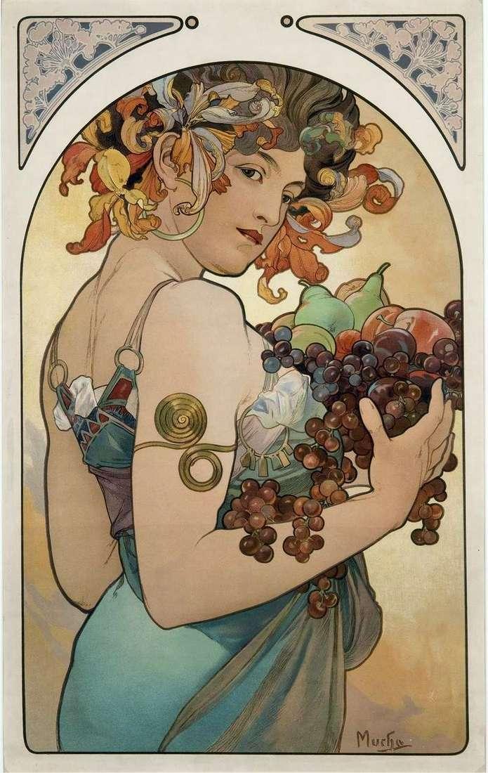 Owoce   Alphonse Mucha