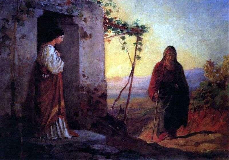 Maria, siostra Łazarza, spotyka Jezusa Chrystusa, przychodząc do ich domu   Nikołaj Ge