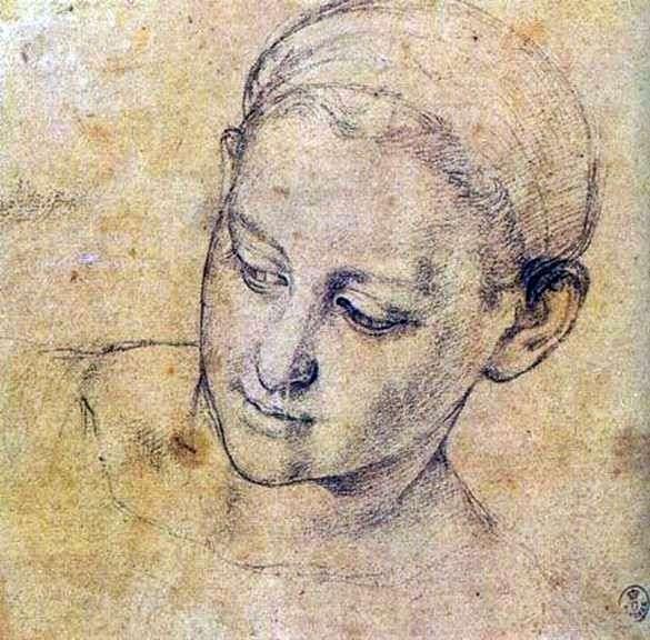 Studium twarzy pobożnej kobiety   Agnolo Bronzino