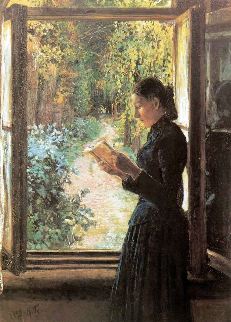 Portret N. And Petrunkevich przy otwartym oknie   Nikolay Ge