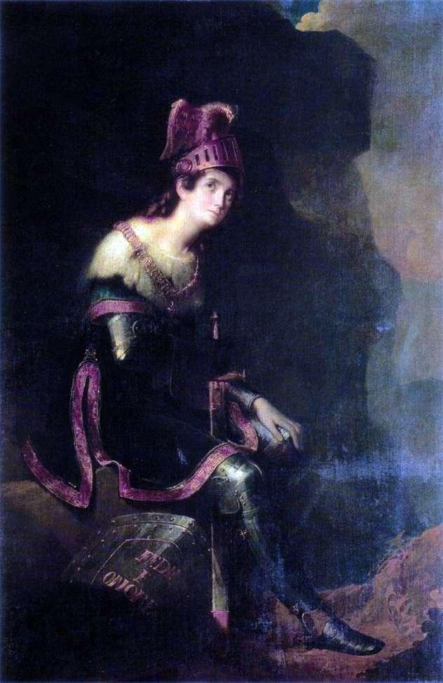 Portret Z. A. Volkonskaya   Fedor Bruni