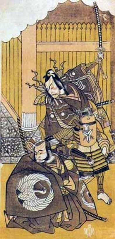 Aktorzy Ichikawa Yaozo II i Ichikawa Dandzuro V   Katsukawa Syunse