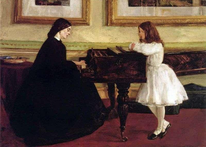 Przy fortepianie   James Whistler