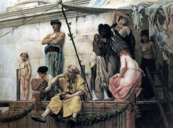 Rynek niewolników   Gustav Rudolf Boulanger