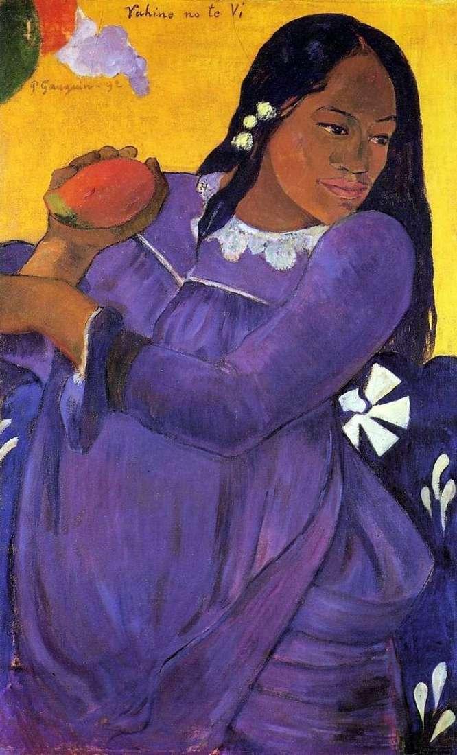 Kobieta z mango (dziewczyna z owocami mango)   Paul Gauguin