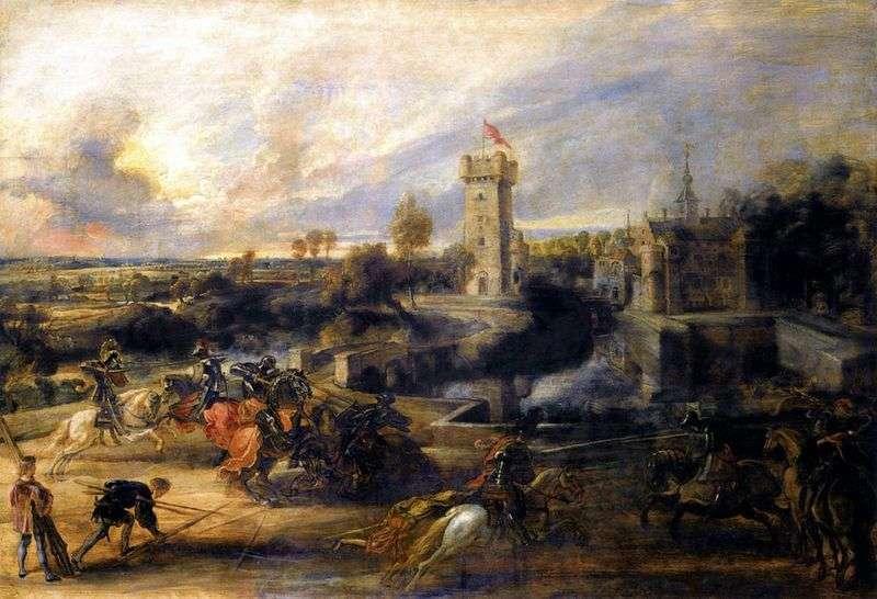 Pojedynek przed zamkiem Stan   Peter Rubens