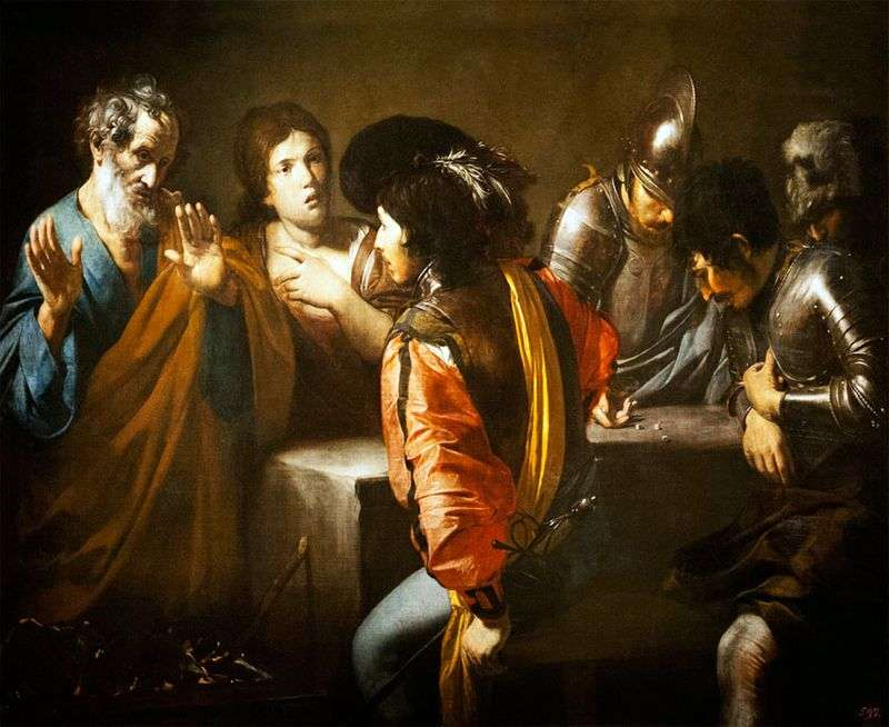 Wyrzeczenie Świętego Piotra   Valentin de Boulogne