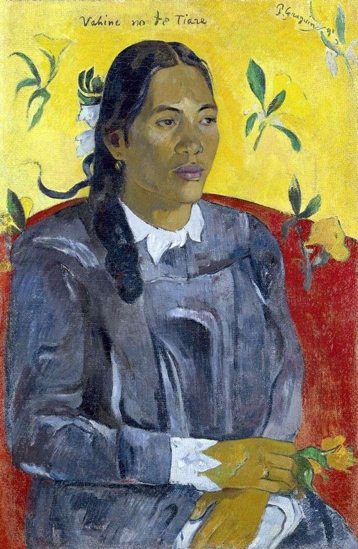 Kobieta z kwiatem   Paul Gauguin