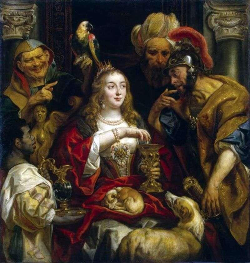 Święto Kleopatry   Jacob Jordaens