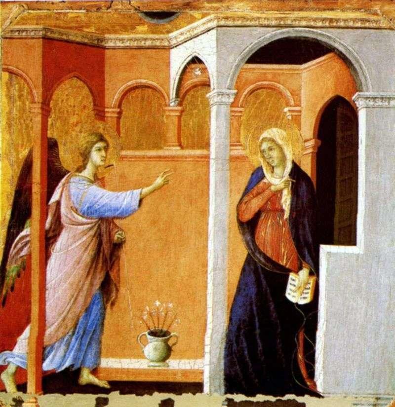 Zwiastowanie   Duccio di Buoninsegna