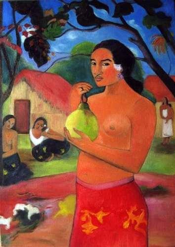 Kobieta trzyma owoc   Paul Gauguin
