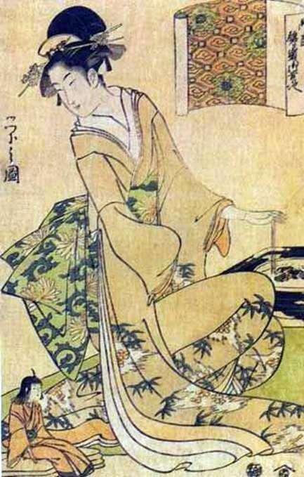 Geisha Mieszanie węgla w palarni   Hosoda Esey
