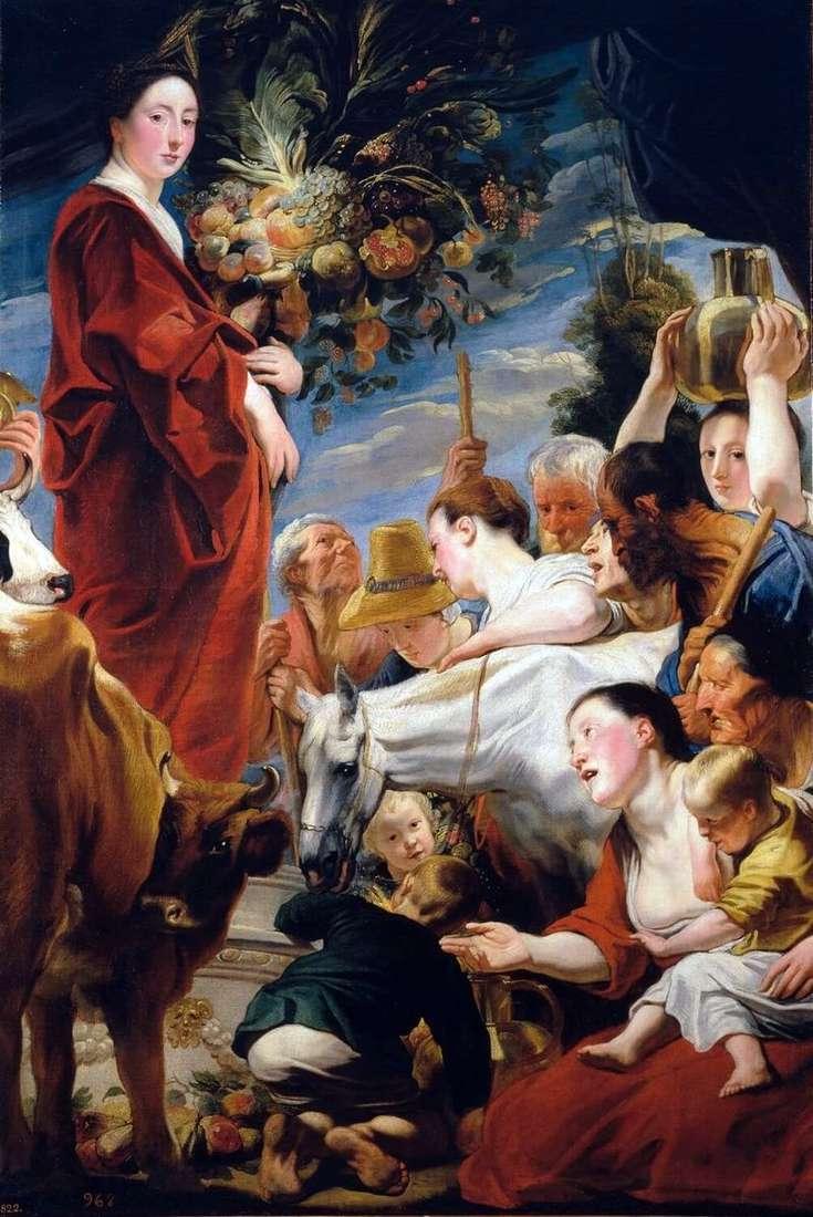 Ofiarowanie Ceres, bogini żniwa   Jacobowi Jordaensowi