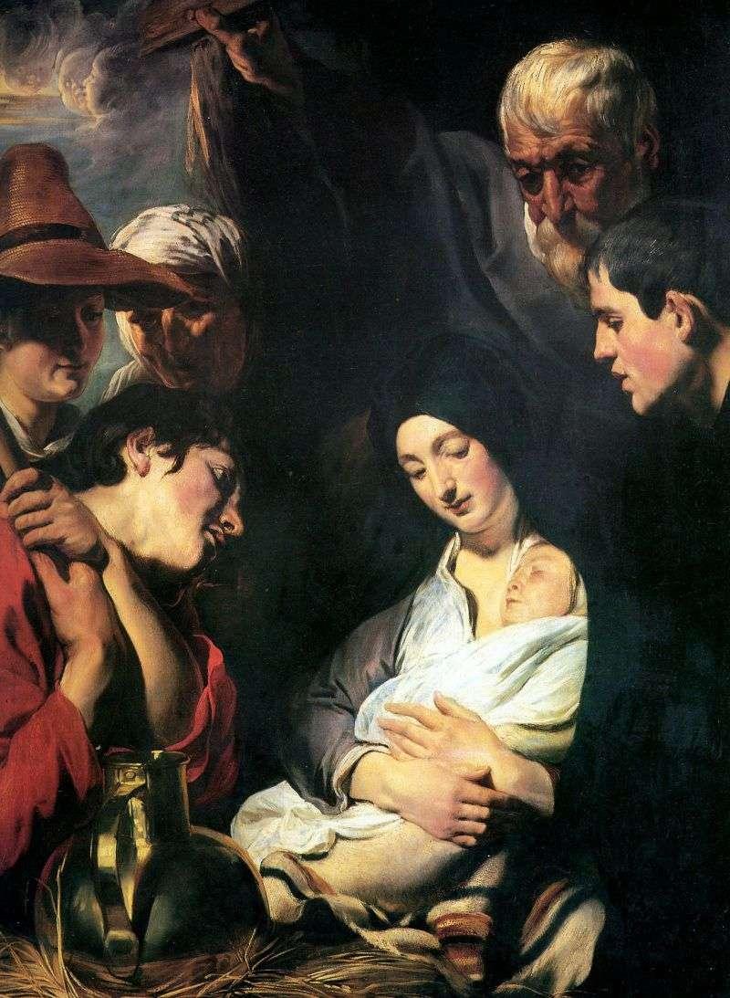 Adoracja Pasterzy   Jacob Jordaens