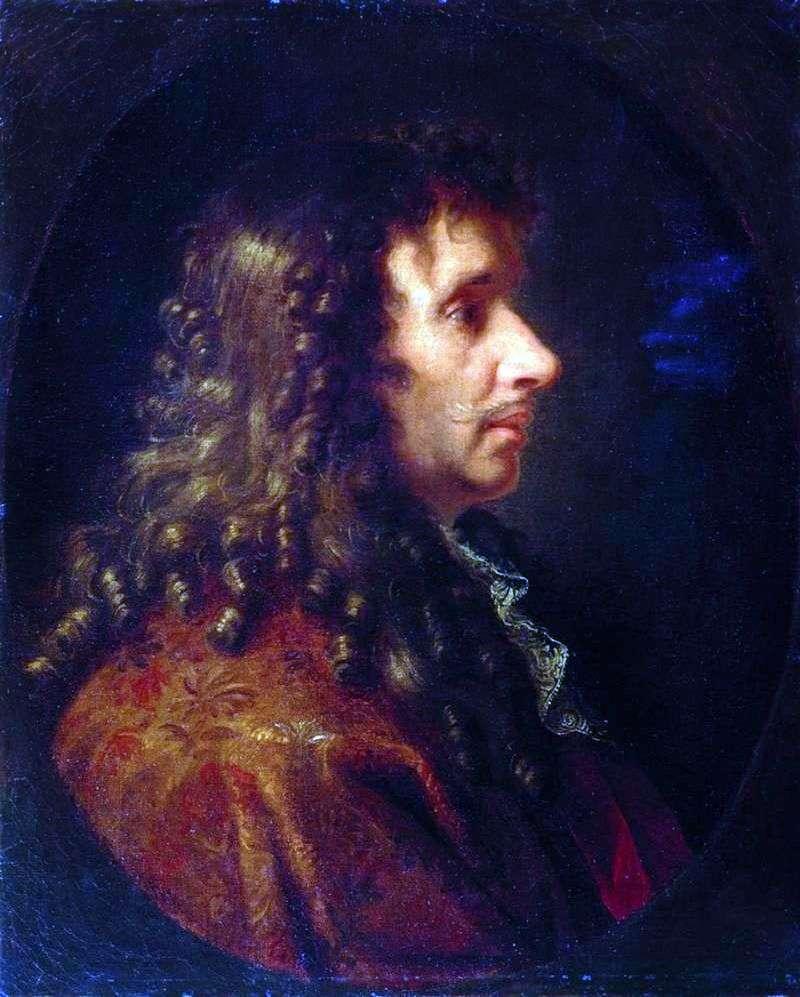 Portret Moliere   Charles Lebrun