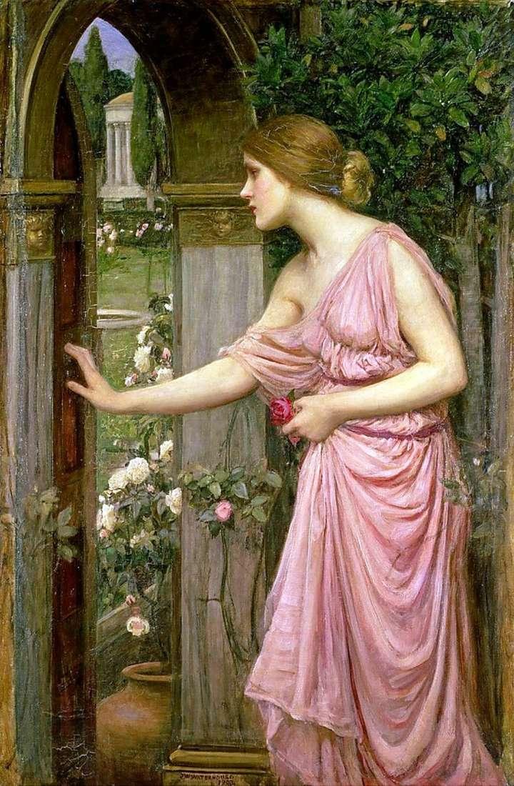 Psyche Otwieranie drzwi na Ogród Kupidyna   John William Waterhouse