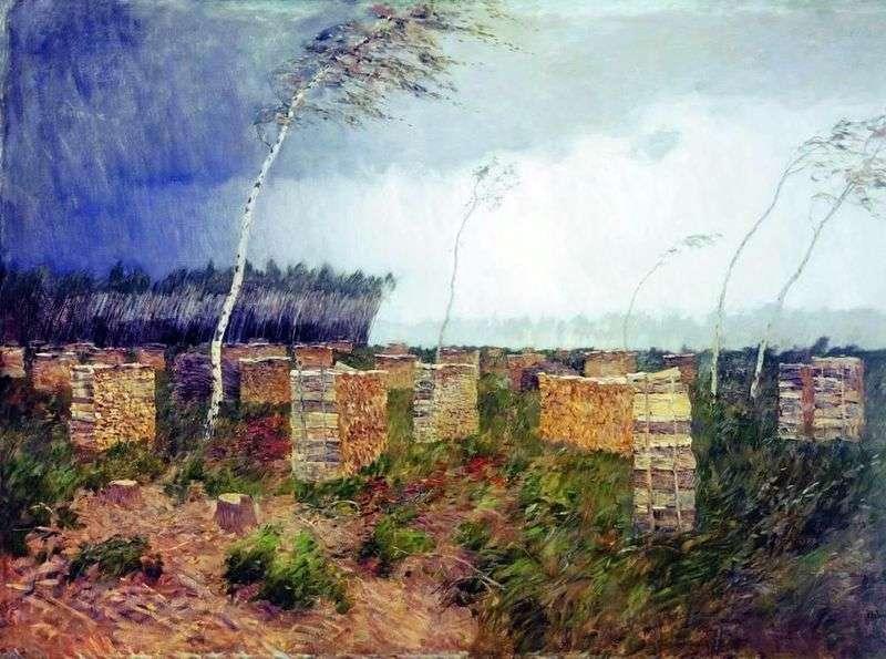 Storm Deszcz   Izaak Levitan