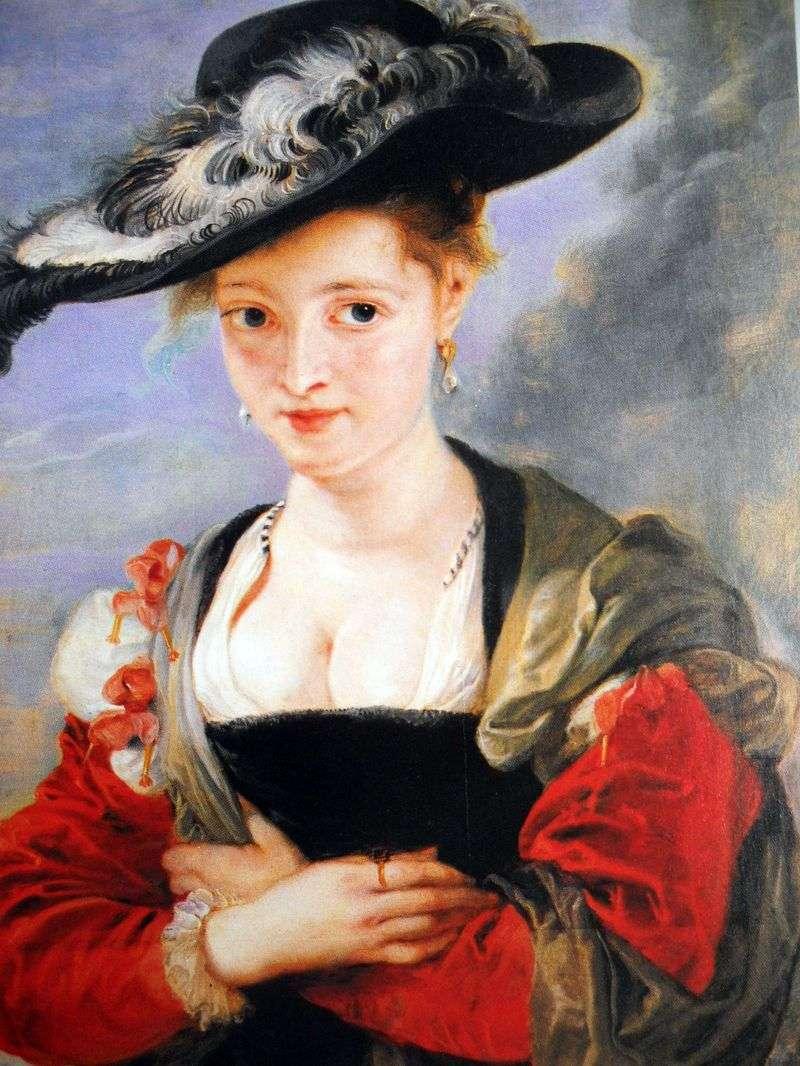 Portret pani w słomkowym kapeluszu   Peter Rubens