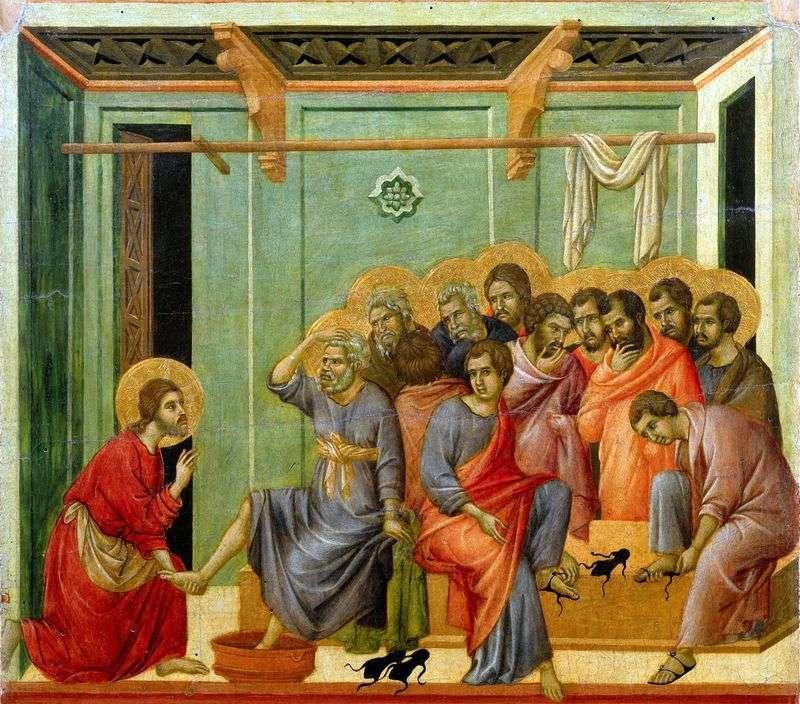 Myjnia stóp   Duccio di Buoninsegna