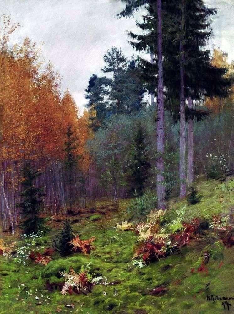 W lesie jesienią   Izaak Lewitan