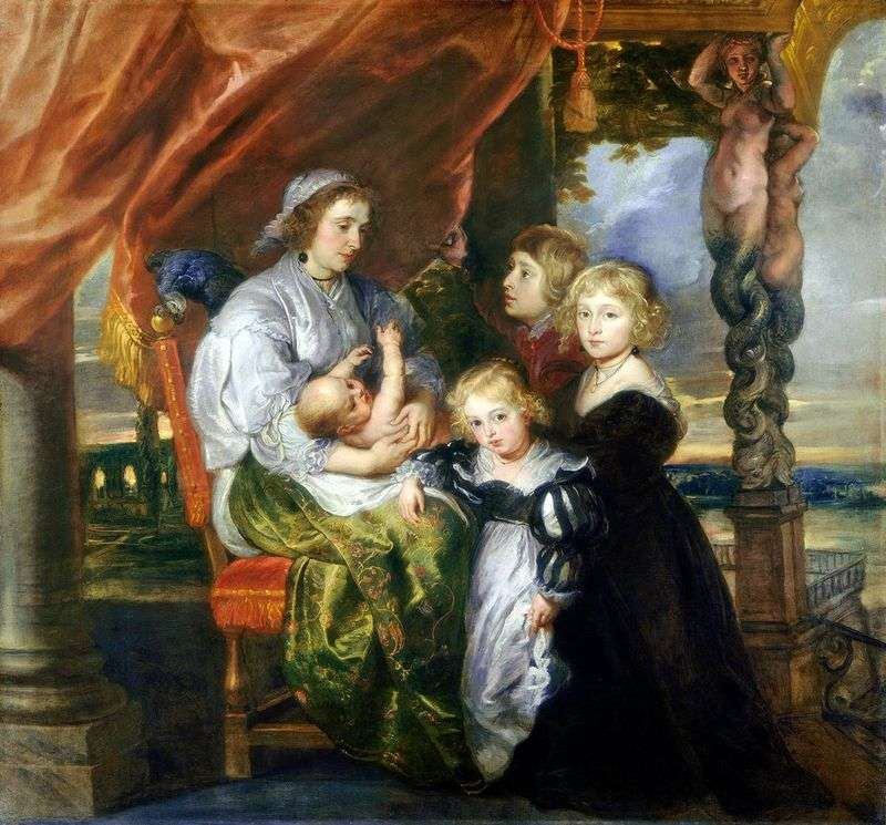 Portret Deborah Kip z dziećmi   Peter Rubens