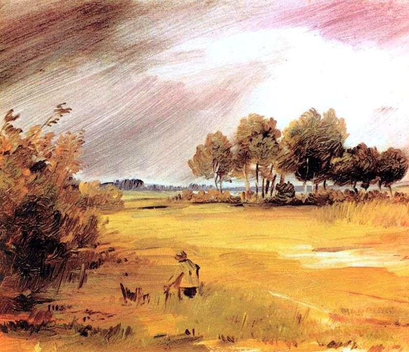Krajobraz w deszczu   Wilhelm Bush