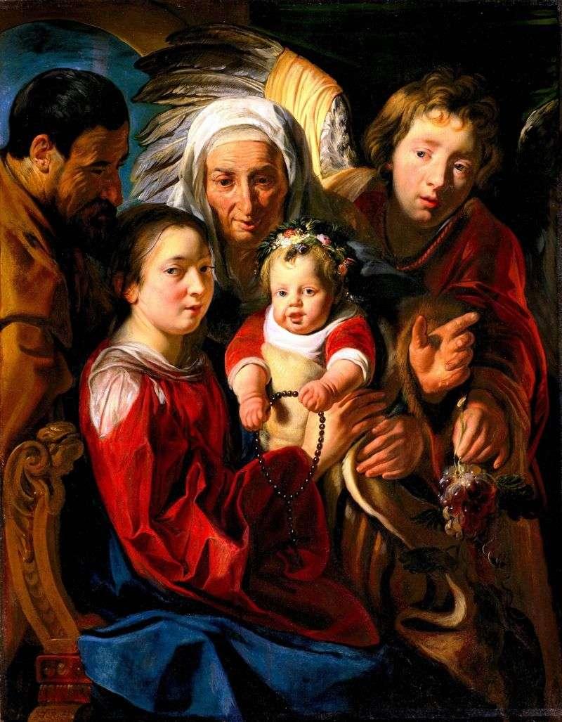 Święta rodzina   Jacob Jordaens