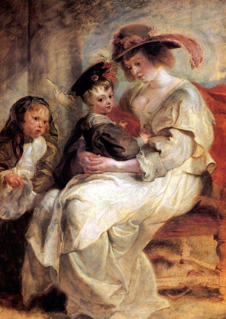 Portret Eleny Fourman z Dwojgiem Dzieci   Peter Rubens