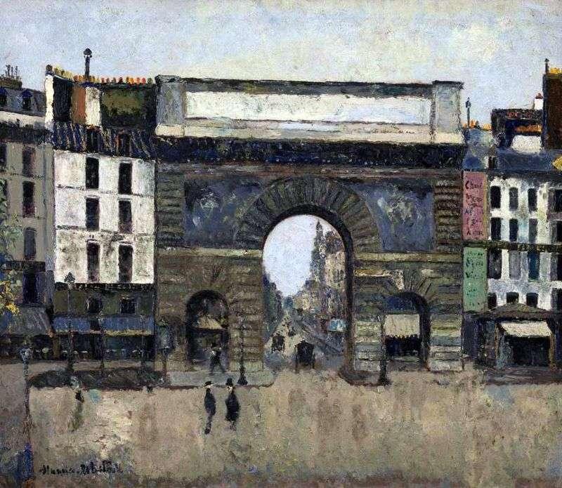 Brama Saint Hazartin   Maurice Utrillo